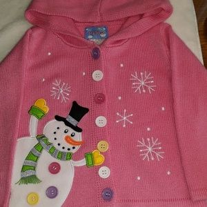 Other - Pink snowman toddler sweater